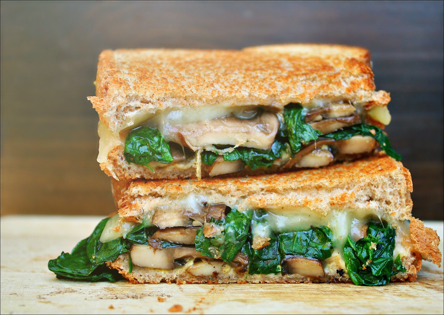 mushroom grilled cheese 2