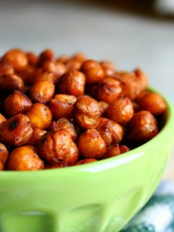 Roasted Ancho Chili Chickpeas
