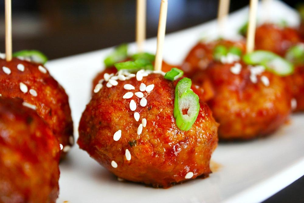 Sticky Sriracha Meatballs 4