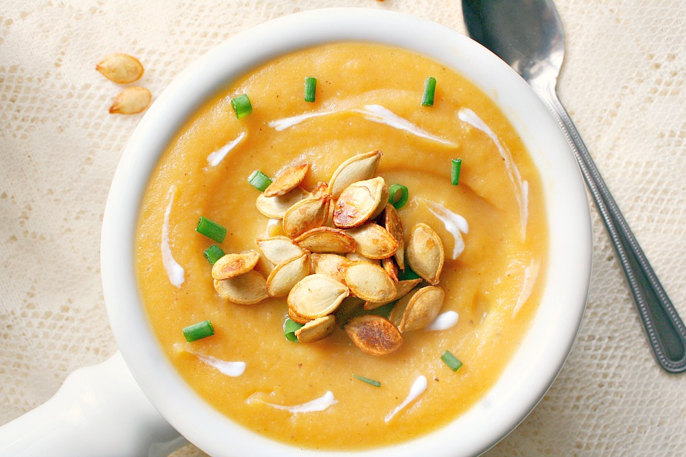 roasted acorn squash and apple soup 4