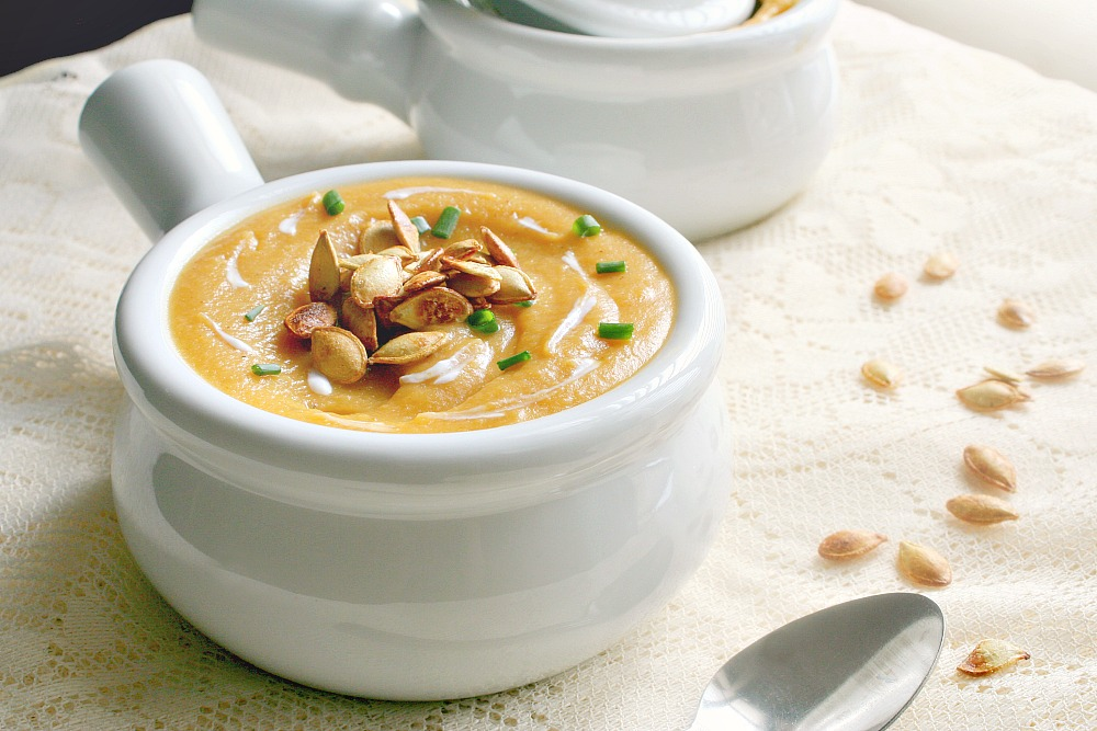 roasted acorn squash and apple soup 5