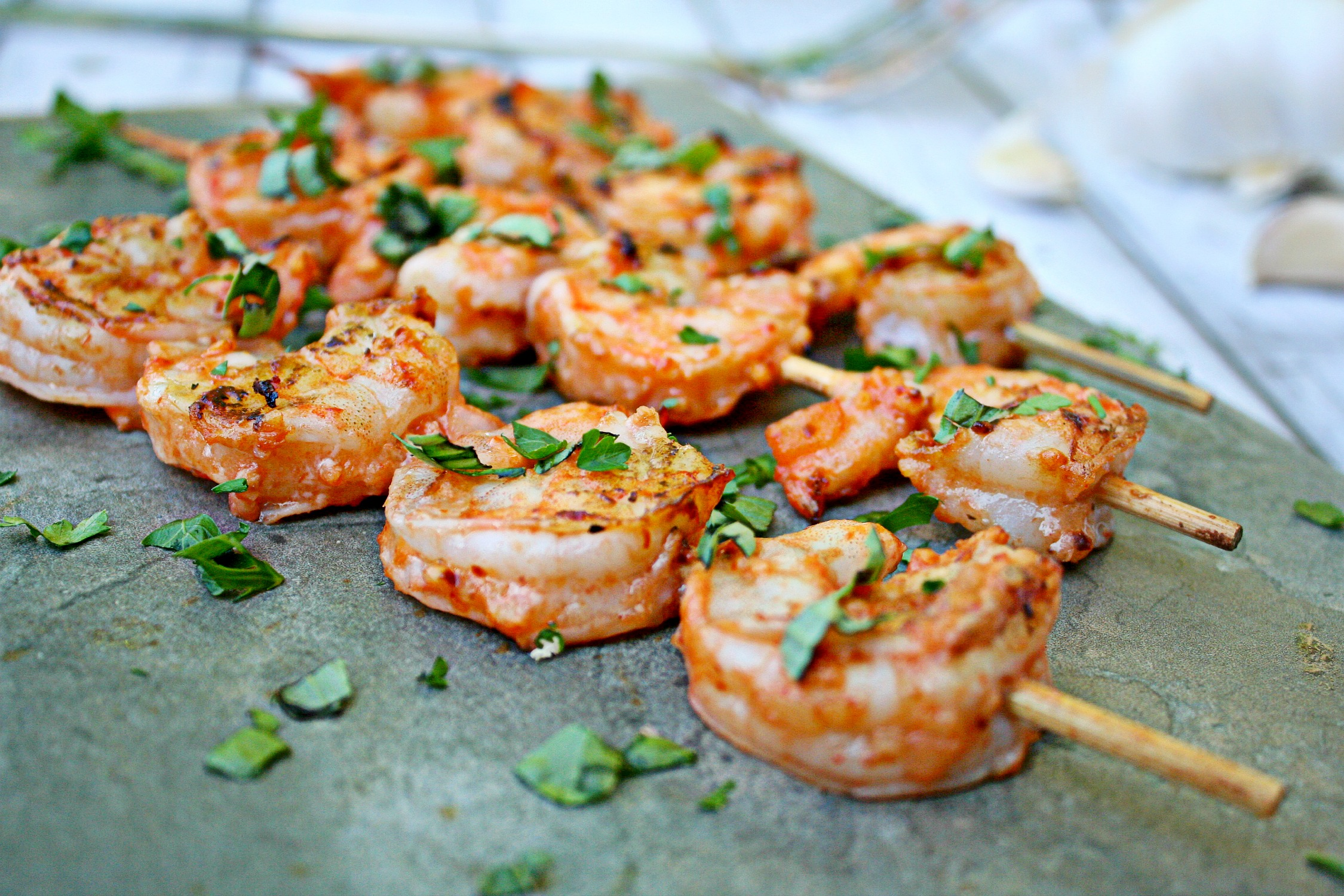 grilled shrimp with salsa and garlic marinade killing thyme