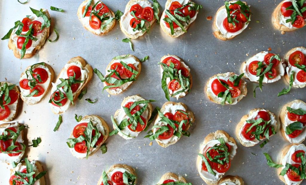Tomato Basil Crostinis 5