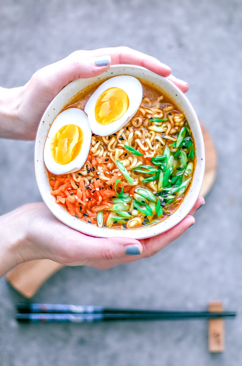 Easy Homemade Ramen Bowl handheld