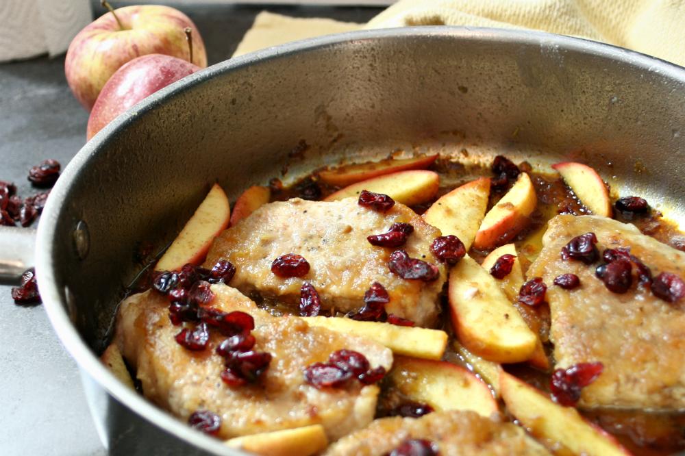 Apple Cranberry Pork Chops 2