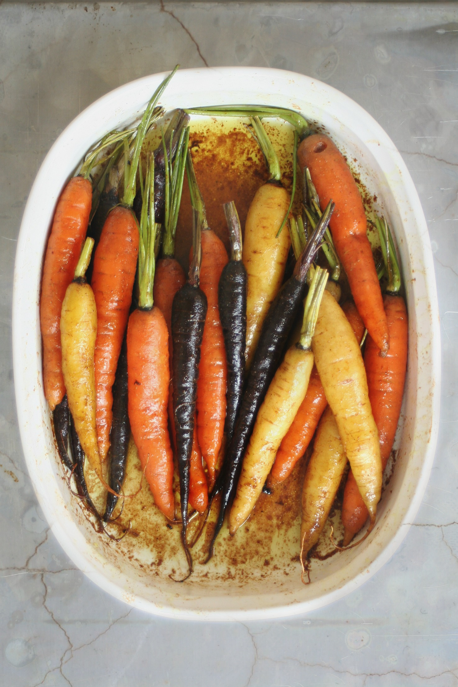 Rainbow Carrots in Sweet Curried Butter