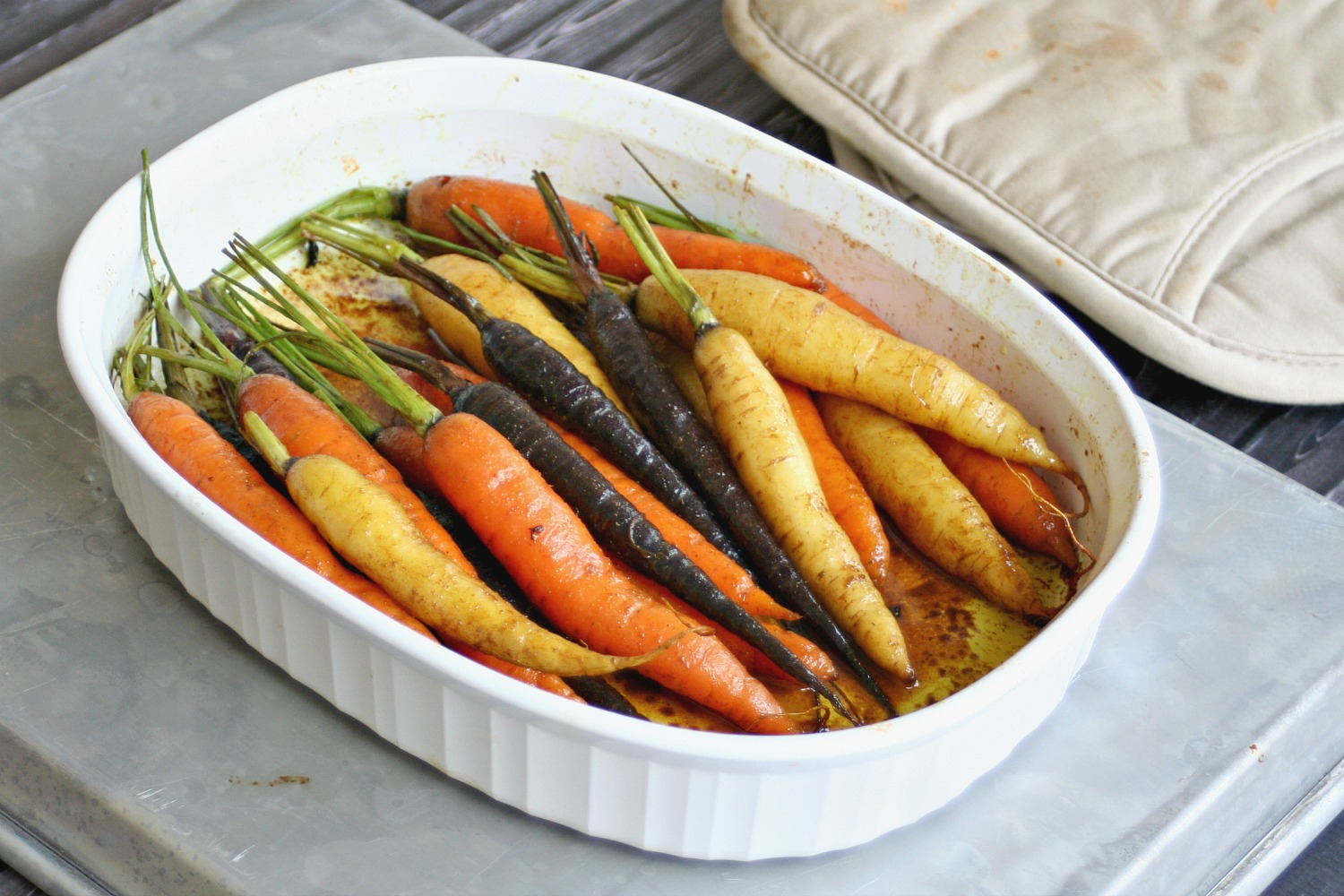 Rainbow Carrots with Sweet Curry Butter 2