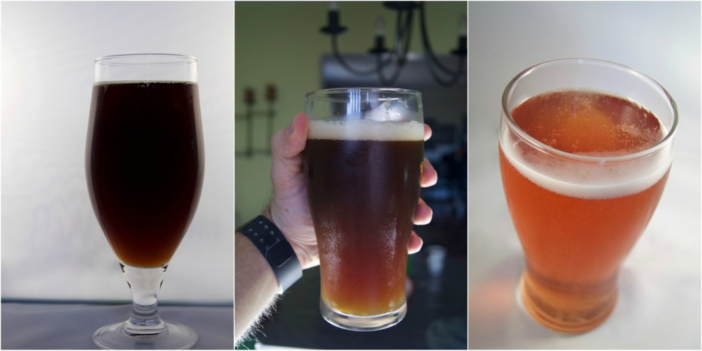L-R: Jared's very own English Brown, Irish Red Ale, and Orange Cranberry Cider