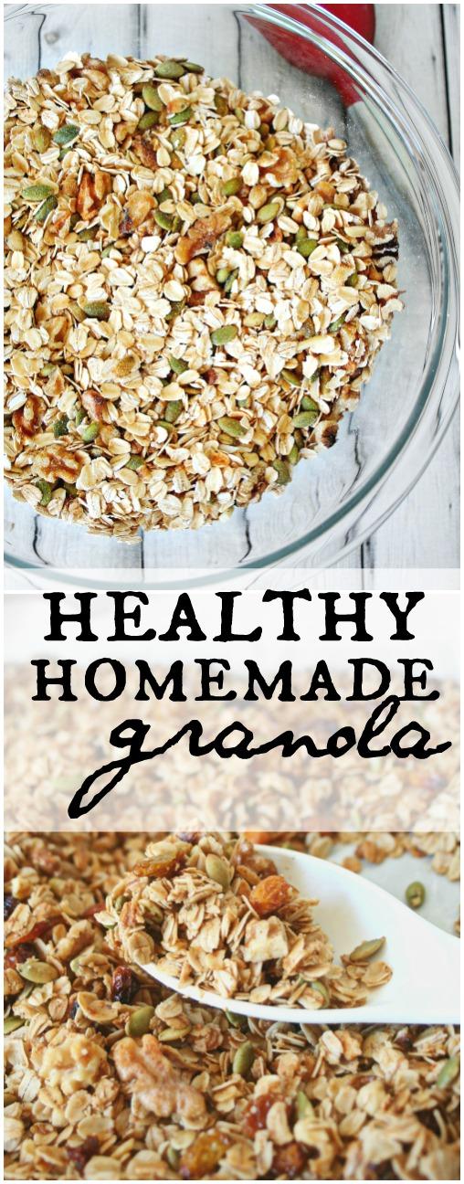 Healthy Homemade Granola Pinterest