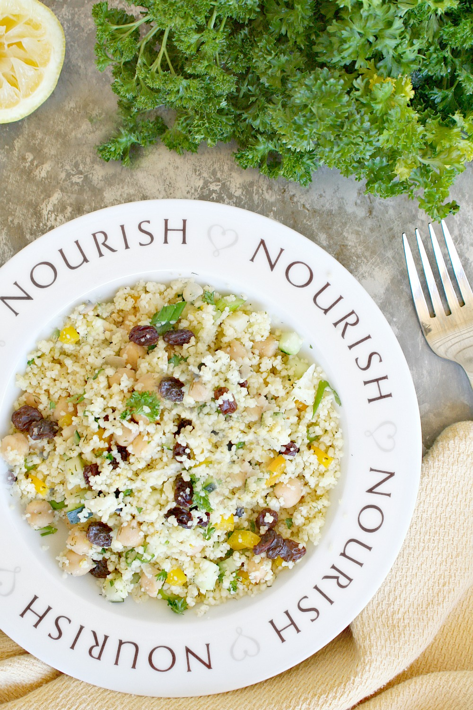Garbanzo Bean and Raisin Couscous Salad