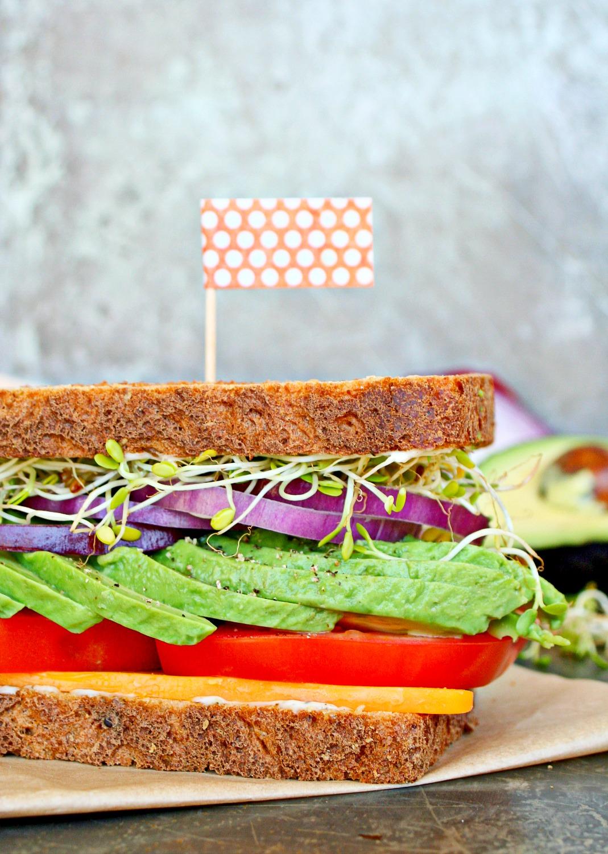 Gourmet Veggie Sandwich 2