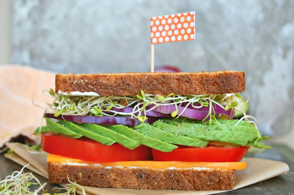 Gourmet Veggie Sandwich - Killing Thyme