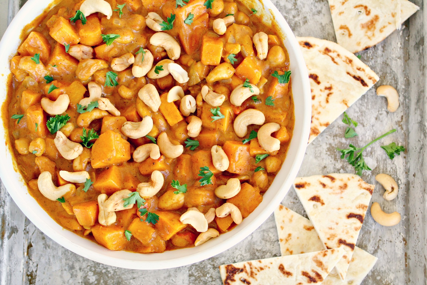 Sweet Potato and Chickpea Coconut Curry - Killing Thyme