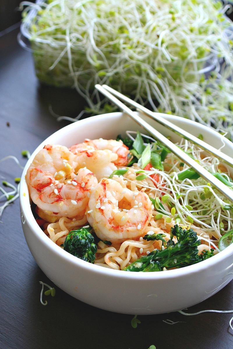 Quick Sesame Shrimp Ramen Stir-fry 2