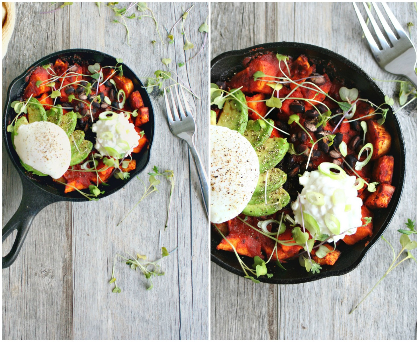 Sweet Potato Brunch Skillet Collage
