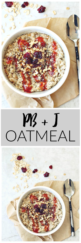 PB + J Oatmeal | Killing Thyme