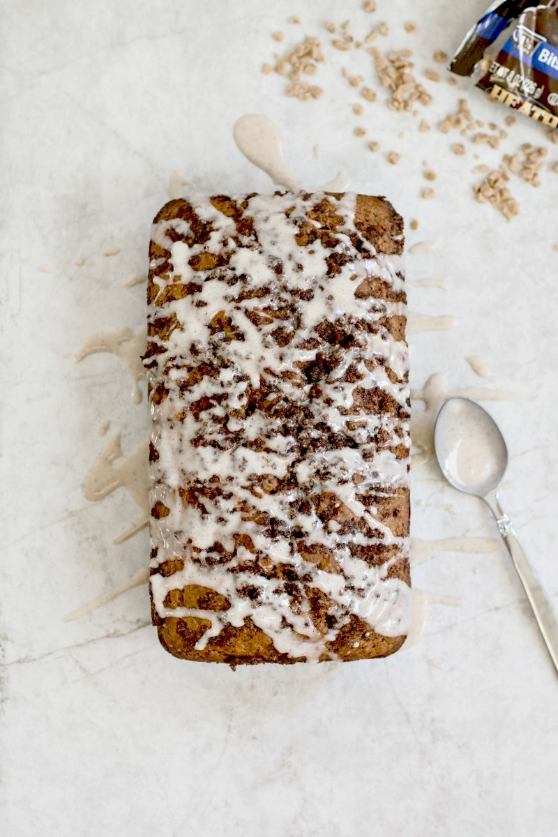 Spiked Cider Banana Bread With English Toffee Bits