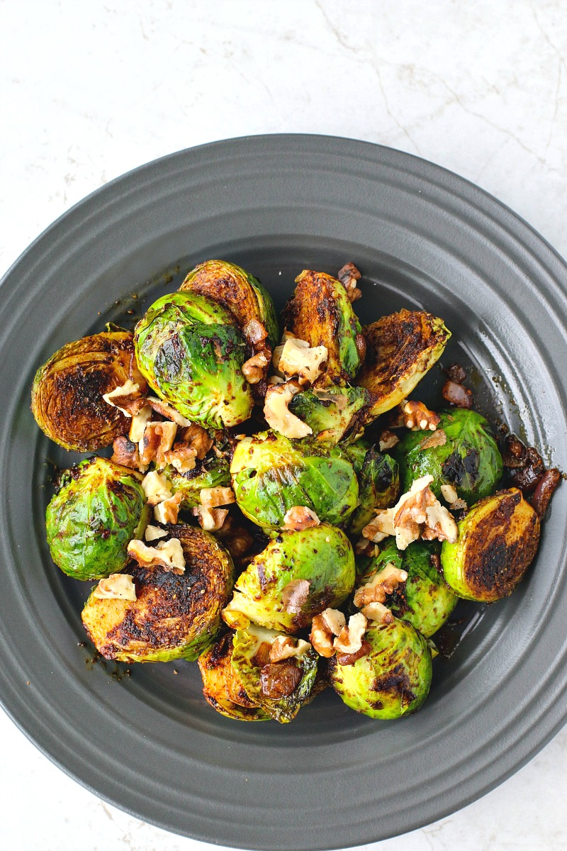 Sweet Curried Brussels Sprouts With Toasted Walnuts | Killing Thyme