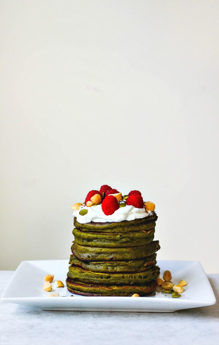 Matcha Green Tea Pancakes | Killing Thyme