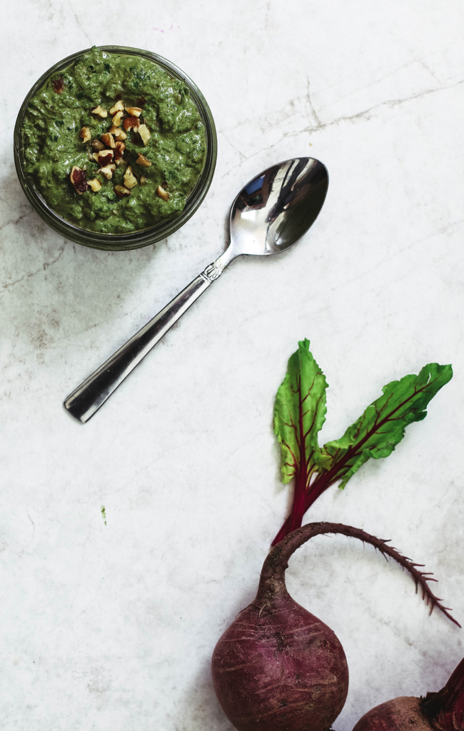 Beet Green Pesto With Toasted Walnuts | Killing Thyme