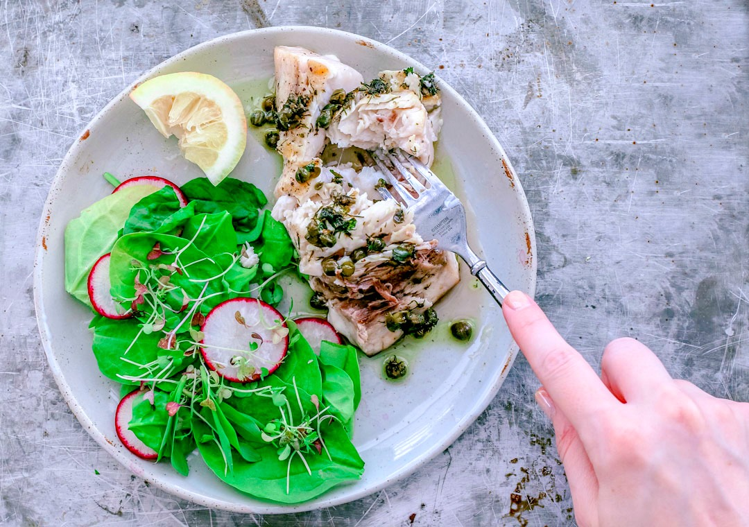 Grilled Swordfish With Dill and Caper Butter Sauce | Killing