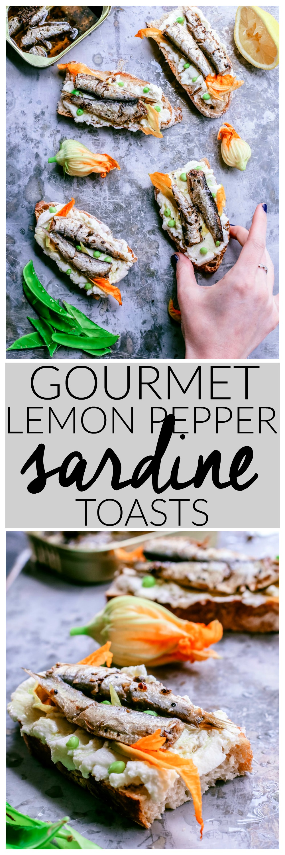 Gourmet Lemon Pepper Sardine Toasts | Killing Thyme