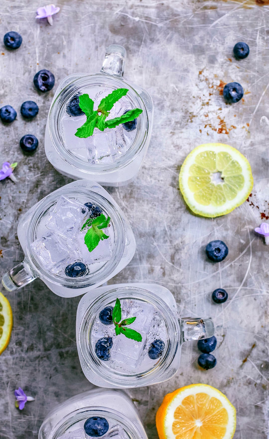 Blueberry Lemon Vodka Fizz | Killing Thyme