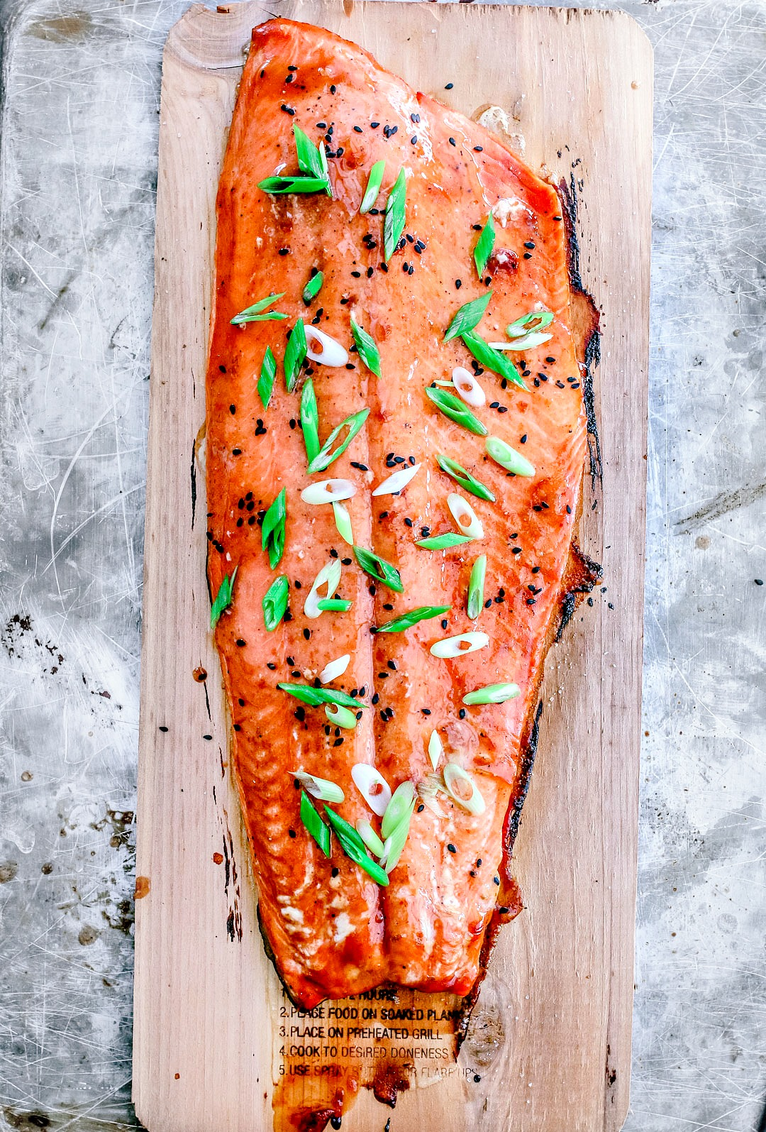 Cedar Plank Salmon With Lime and Sriracha Glaze | Killing Thyme