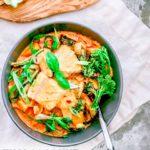 Thai Coconut Fish Curry with Kabocha Squash