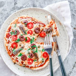 Mini Puttanesca Pizzas | Killing Thyme