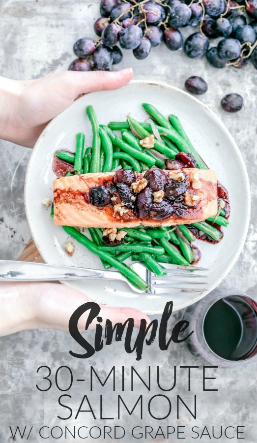 Easy Pan-Seared Salmon With Concord Grape Sauce | Killing Thyme