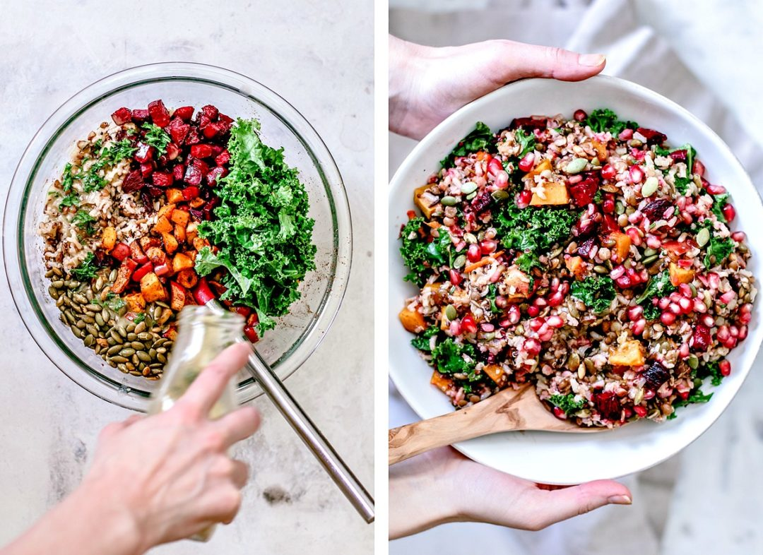 Fall Harvest Wild Rice Medley in a serving bowl