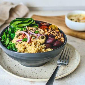 Bowl of Mediterranean Quinoa Salad