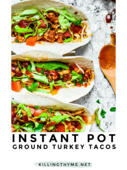 Instant Pot Ground Turkey Tacos Pin.