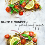 Baked Flounder in Parchment Paper