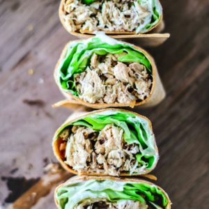 Lemon Mackerel Caesar Wraps