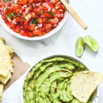 Homemade Salsa and Guacamole Recipe.
