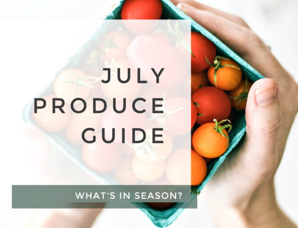 July Produce Guide title photo.