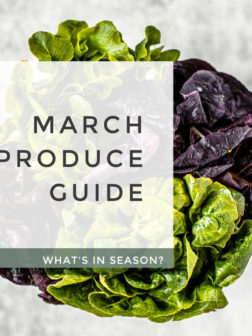 What's In Season? March Produce Guide.