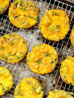 Scallion and Cheddar Egg Muffins with King Oscar Sardines