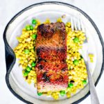 Pan-Seared Salmon with Maple Curry Butter.