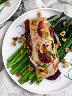 Baked Salmon en Papillote with Blood Orange and Fennel