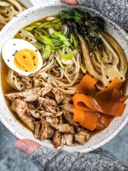 Easy Five Spice Chicken Ramen Bowl