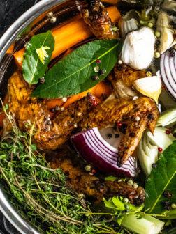 Instant Pot Chicken Stock with Vegetable Scraps