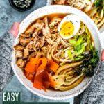 Easy Five Spice Chicken Ramen Bowl.