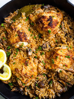 One Pan Herb and Garlic Chicken with Rice