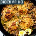 One Pan Herb and Garlic Chicken with Rice.