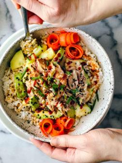 Sesame Ginger Rice Bowl with Mackerel