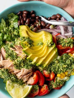 Healthy Southwest Tuna Bowl with Lime Herb Dressing