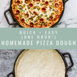 Quick and Easy Homemade Pizza Dough.